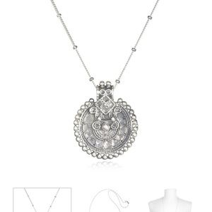 Satya Jewelry Jewelry - Satya Jewelry Silver Mandala Necklace